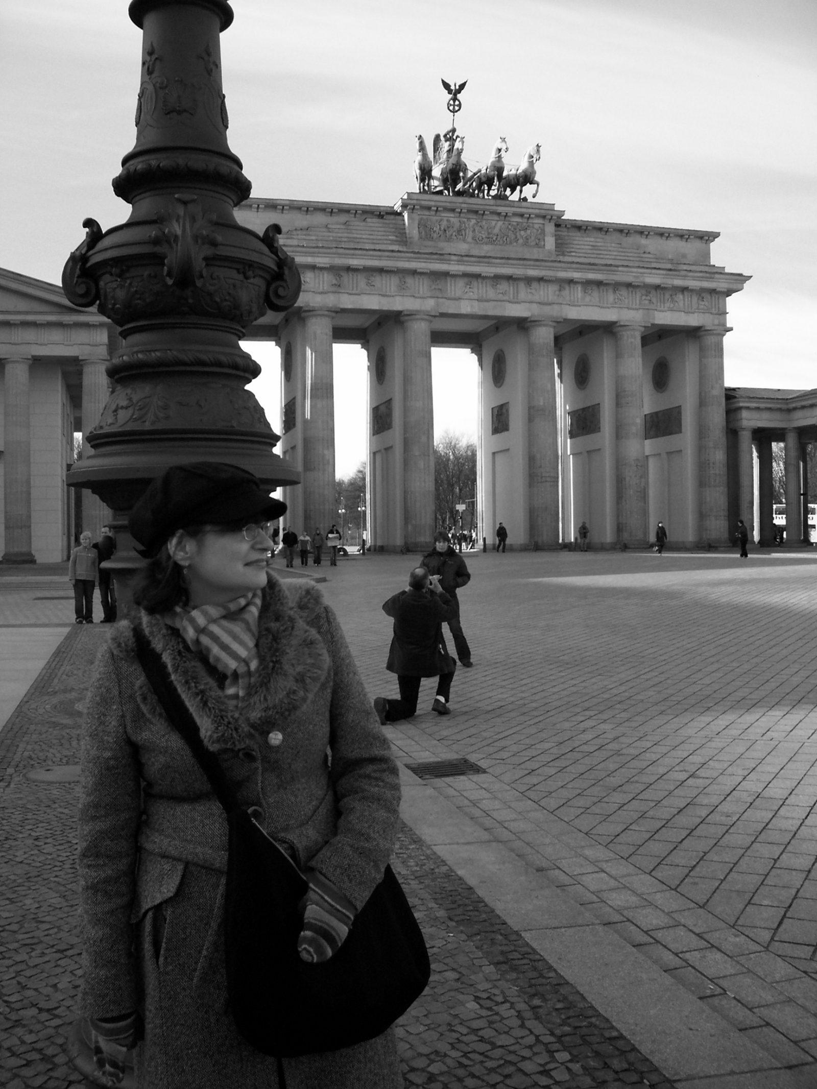 Lis by the Brandenburg Gate