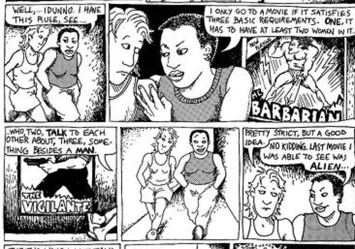 all this and an equality cookie too: what we talk about when we talk about the bechdel test;