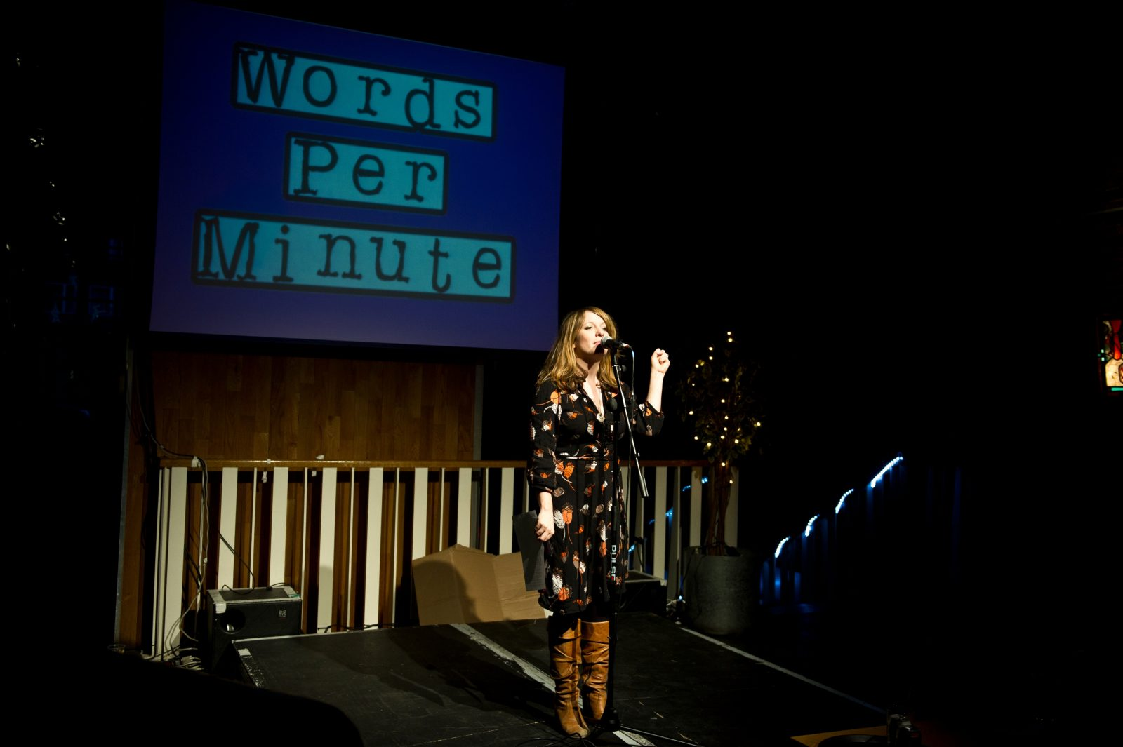 last year's girl at the festivals: words per minute;