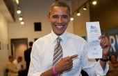 Barack votes