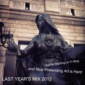 ART IS HARD - LYG 2012 mix cover art