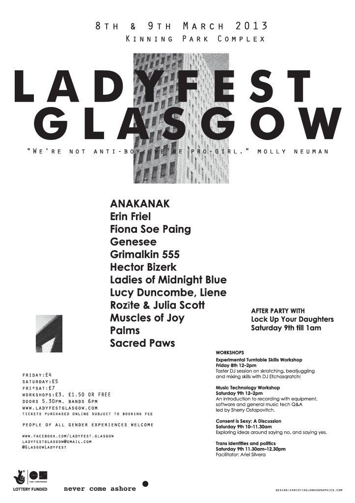 Ladyfest Glasgow poster