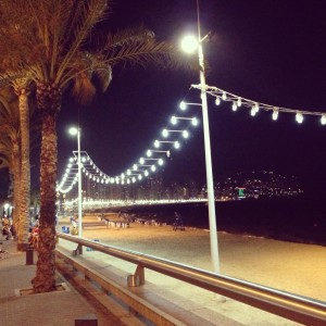 Benidorm Beach at night