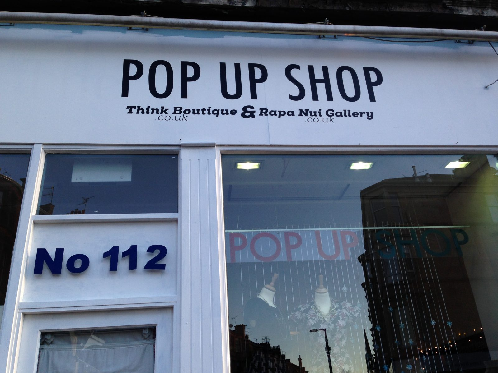 out and about: pop up glasgow;