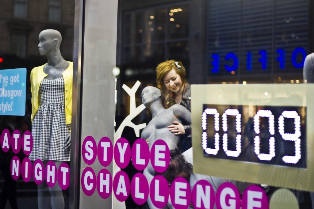 Late Night Style Challenge - Saffron wrestles a mannequin