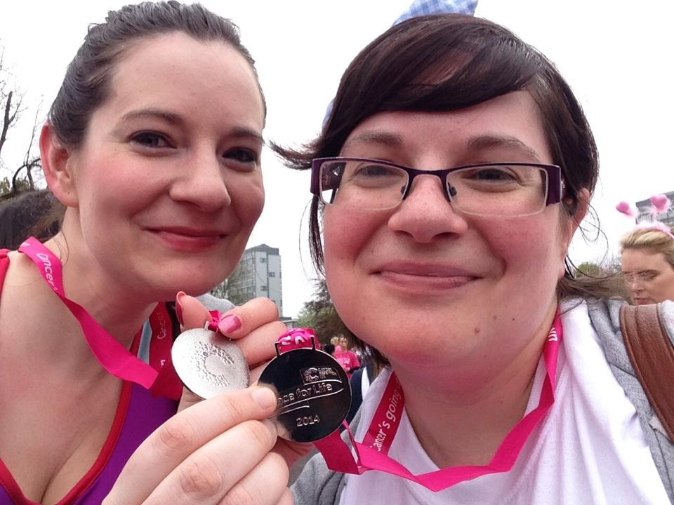 """we could try like super hard"": last year's race for life;"