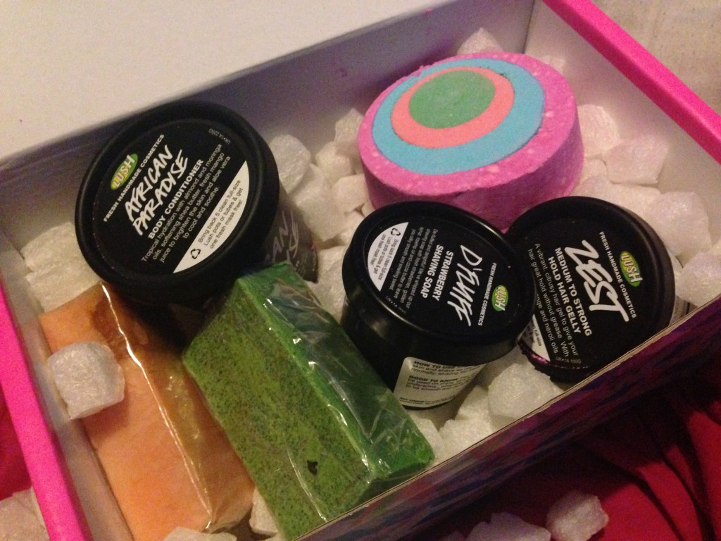 Lush take-home box - inside