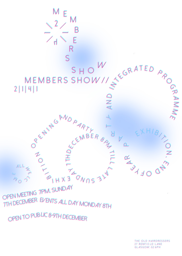 2|1|4|1 2014 members' show event promo poster