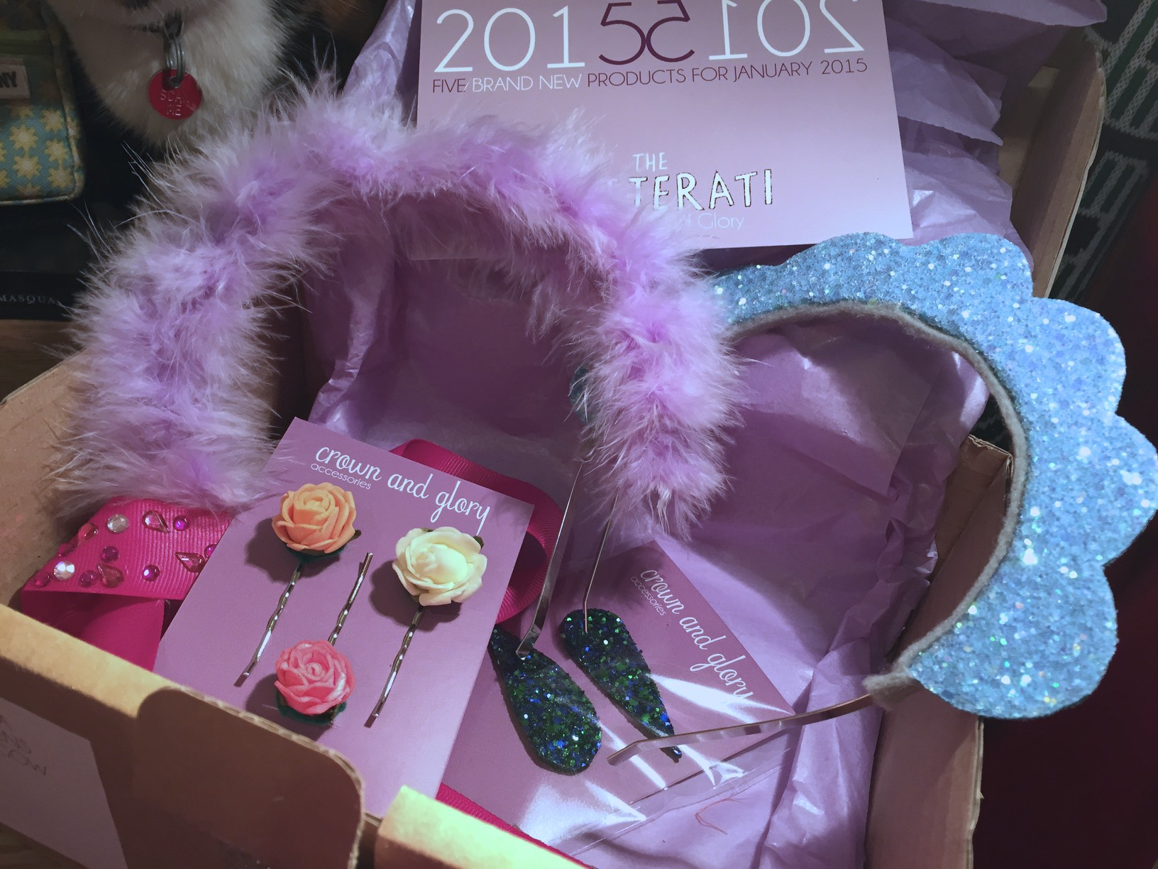 Crown and Glory Glitterati subscription box - January 2015
