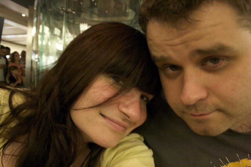 Newlyweds in Apple 5th Avenue, July 2010