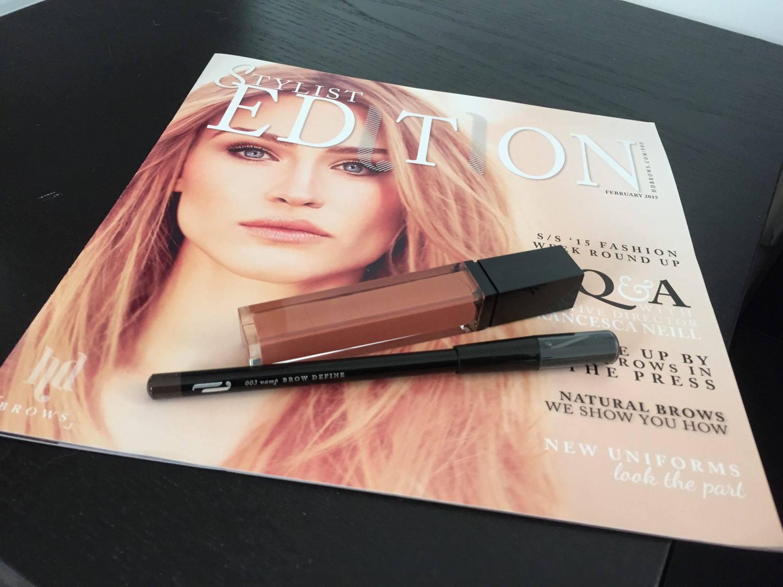 HD Brows makeup and magazine
