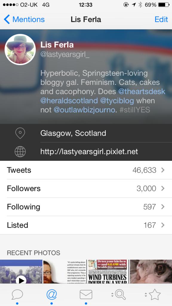 Last Year's Girl hits 3,000 Twitter followers