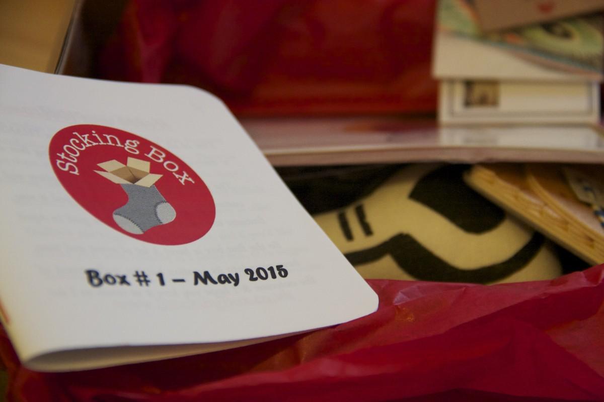 last year's postbox: stocking box;