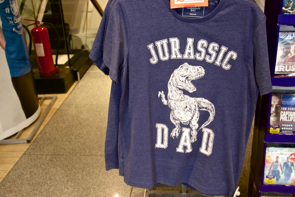 St Enoch Centre: Jurassic Dad t-shirt, BHS