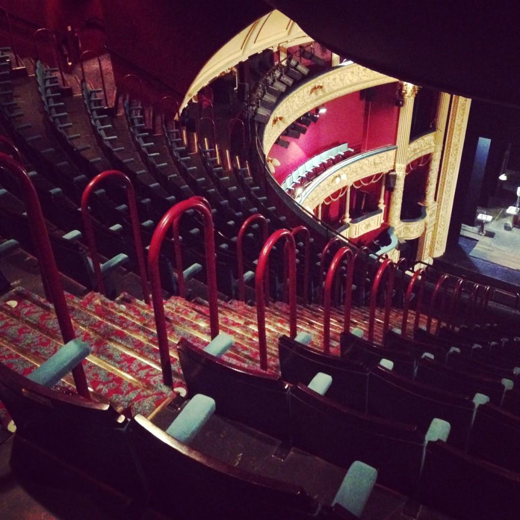Peeking down into the main auditorium, Theatre Royal