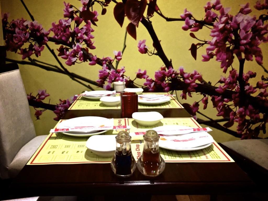 Chop Chop Chinese restaurant - interior