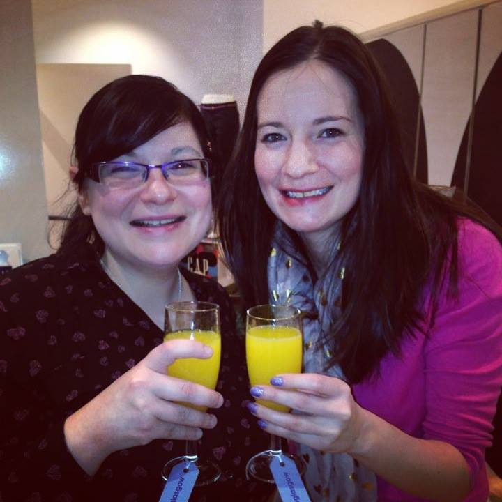 Drinking Bucks Fizz at 9:30am on a Sunday at a Gap bloggers' event, March 2014