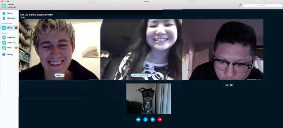 Thee AHs webcam