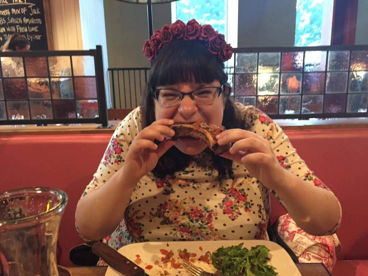 Jamie's Italian Glasgow - serious restaurant appreciation face