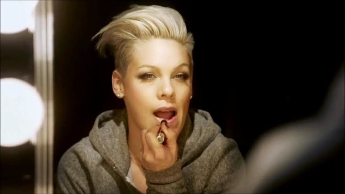 "Pink - ""Try"" video screenshot"
