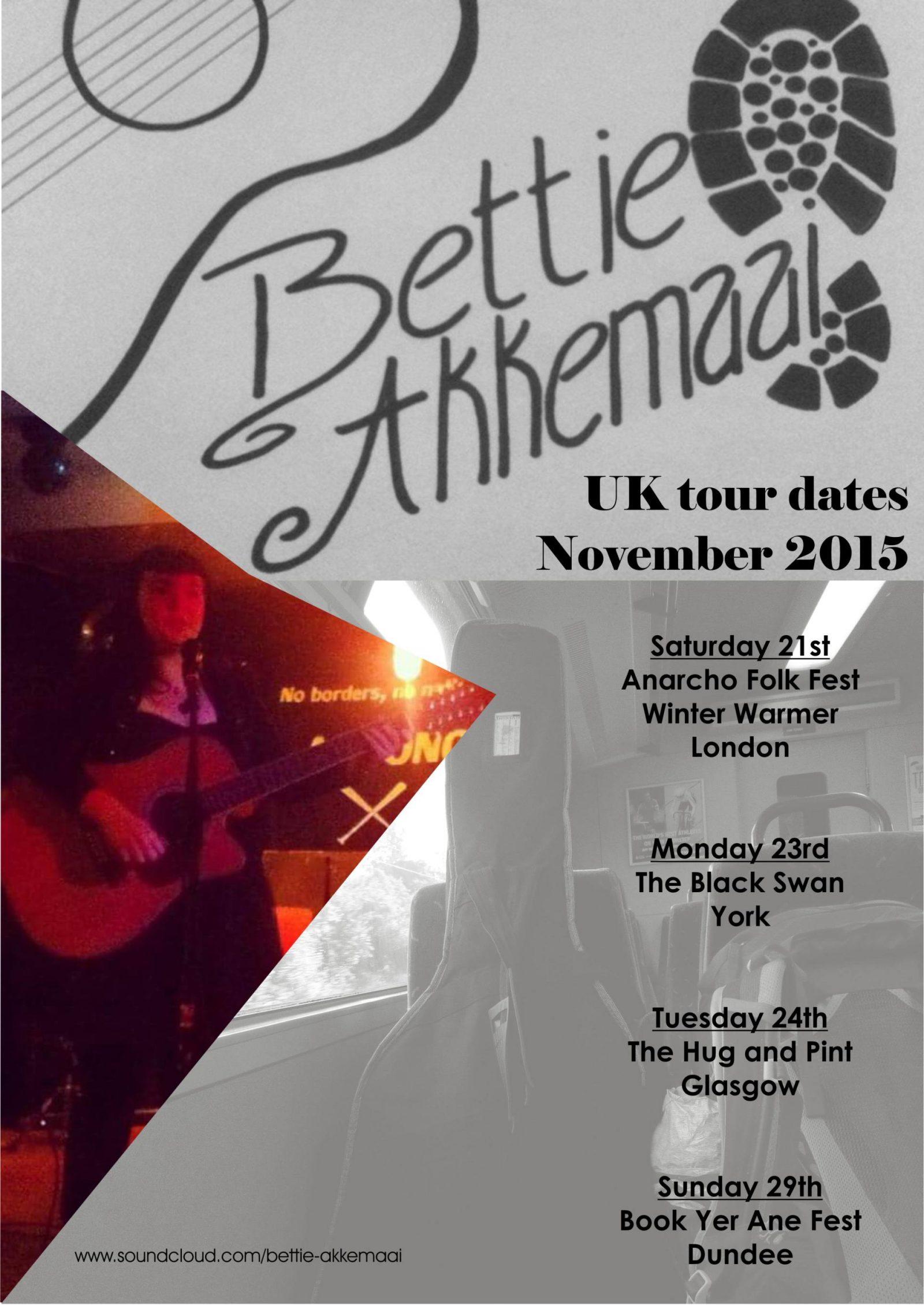 Bettie Akkemaai UK tour November 2015