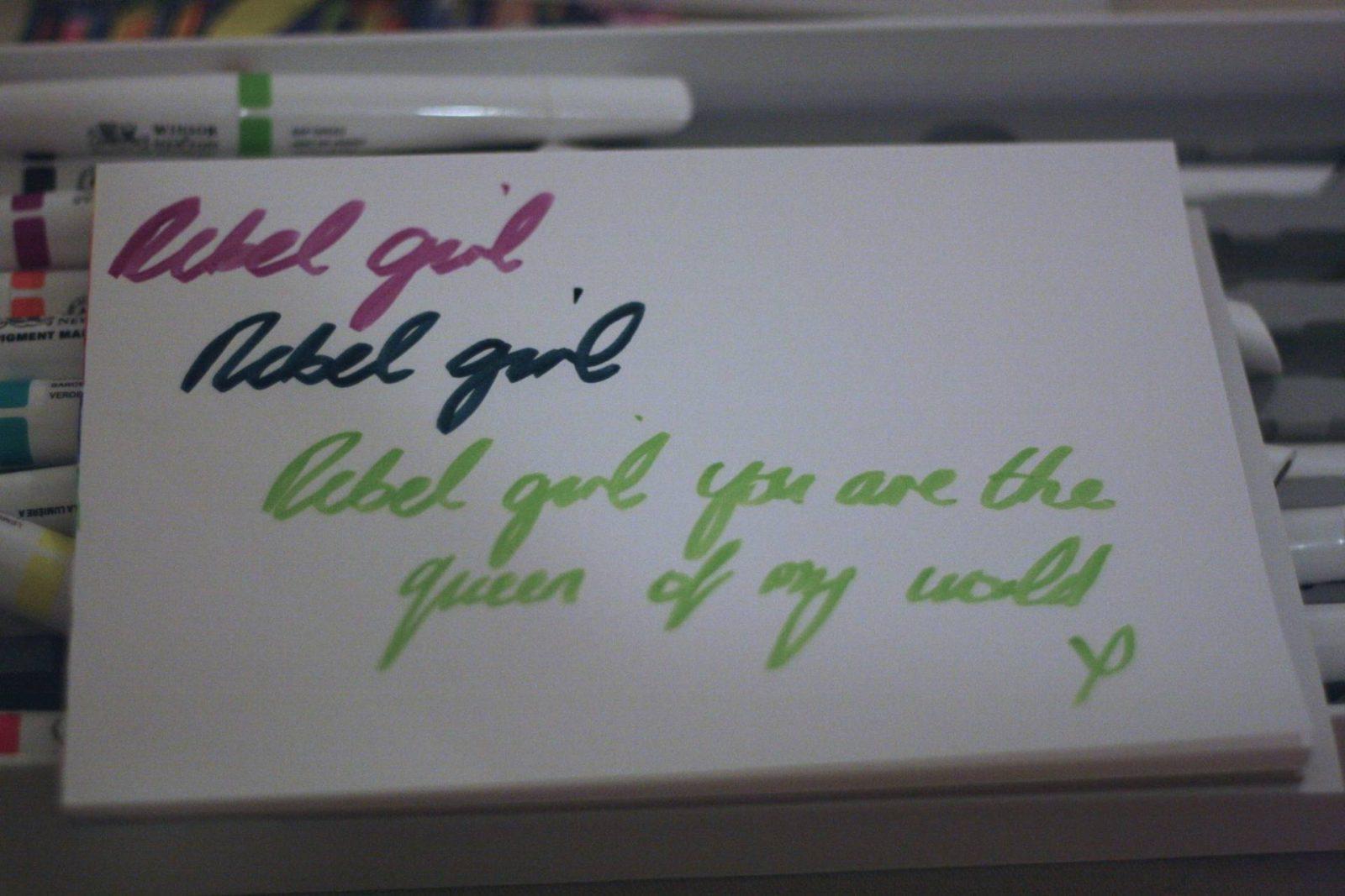 Cass Art Winsor & Newton pigment markers - Rebel Girl