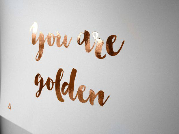 Tech Meets Paper - You Are Golden