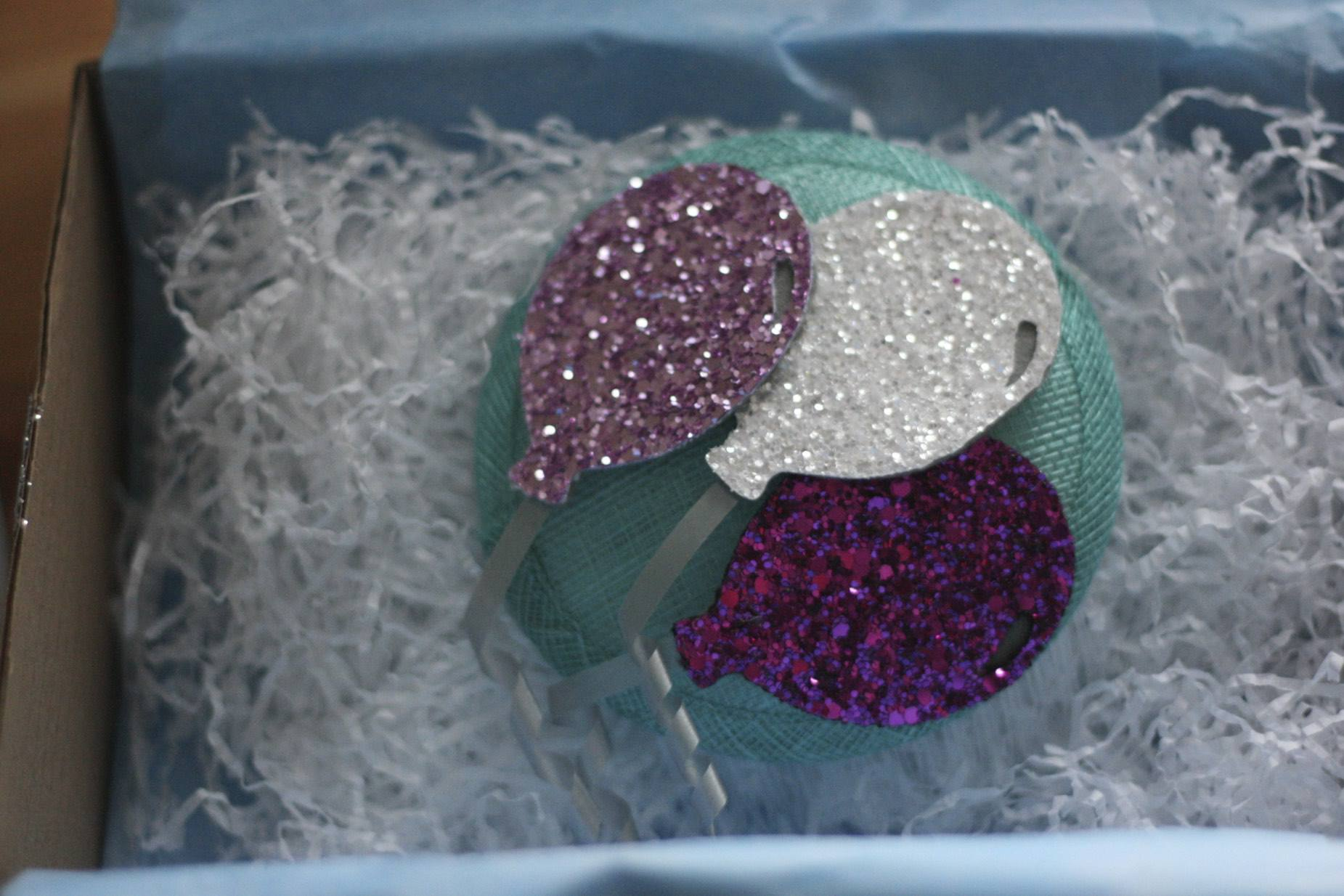 The Glitterati by Crown and Glory unboxing January 2016 - balloon fascinator