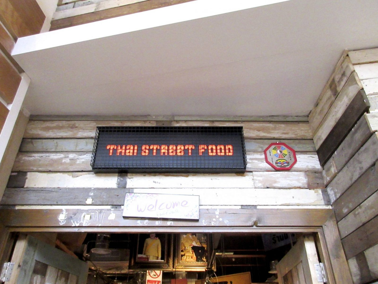 Thaikhun Glasgow review - signage