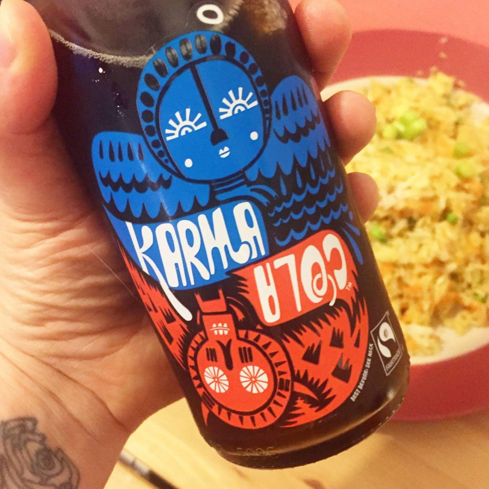 Karma Cola review - cola and pork fried rice