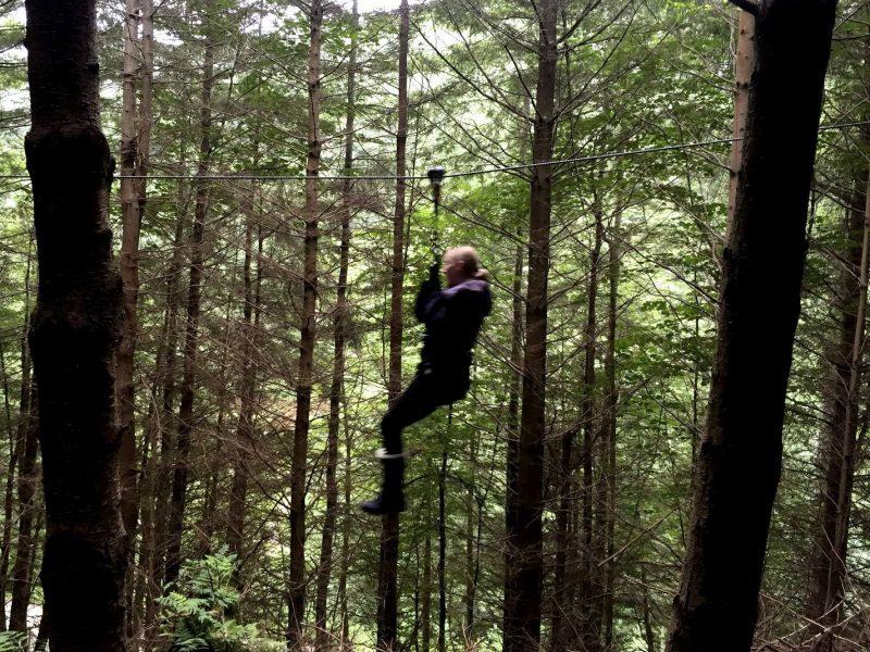 My Go Ape Adventure - Mum swinging through the forest