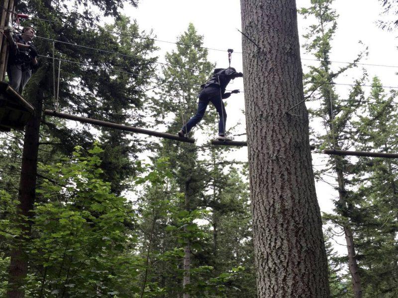 My Go Ape Adventure - MC above ground