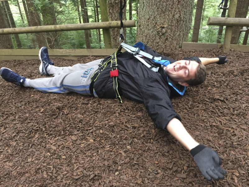 My Go Ape Adventure - Jamie crash lands