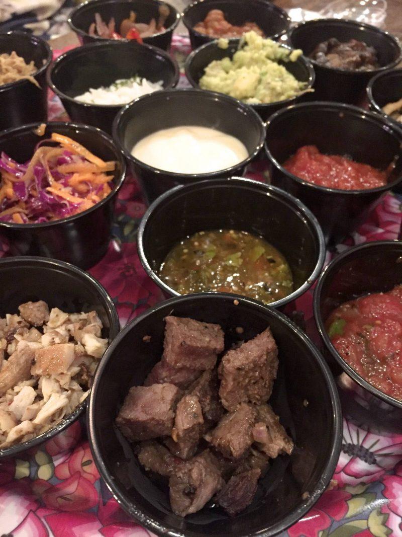 Barburrito - sample burrito fillings