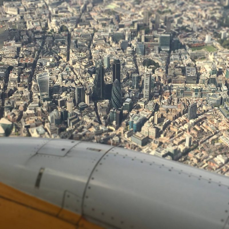 Air Travel - London from above