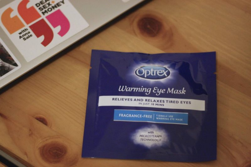 Optrex Warming Eye Mask product review