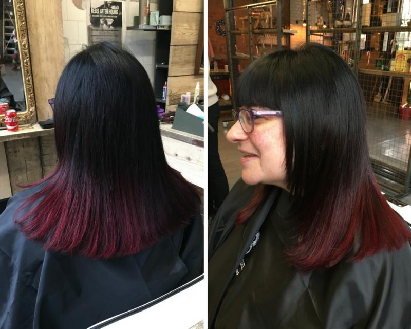 Ombre hair by Gemma Willock-Smith at Rebel Rebel Finnieston Glasgow barber hair salon