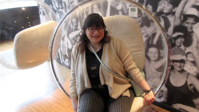 Glasgow staycation with citizenM - bubble chairs are glorious
