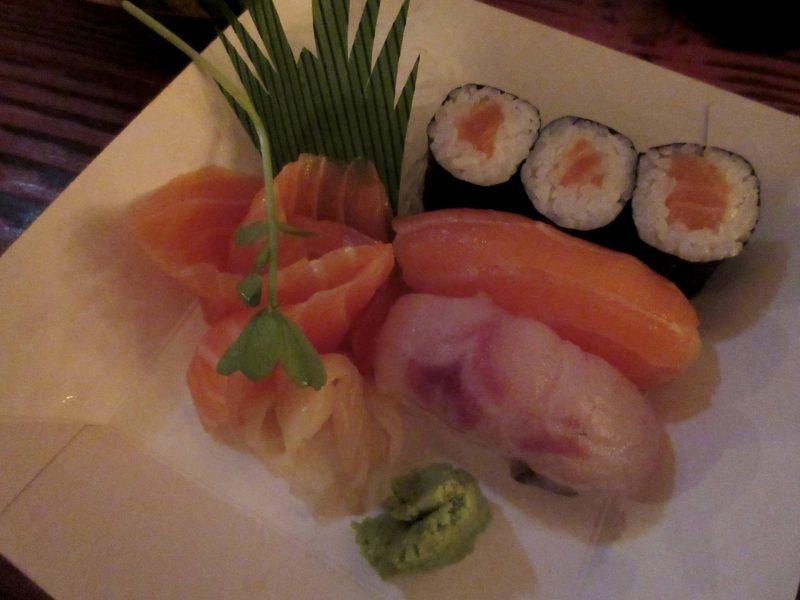 Temaki Glasgow Japanese restaurant - sushi selection