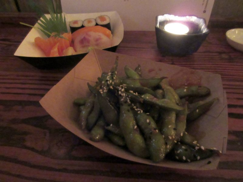 Temaki Glasgow Japanese restaurant - kimchi edamame