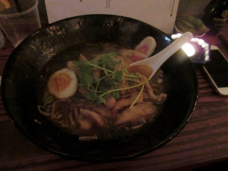 Temaki Glasgow Japanese casual dining - chilli chicken ramen