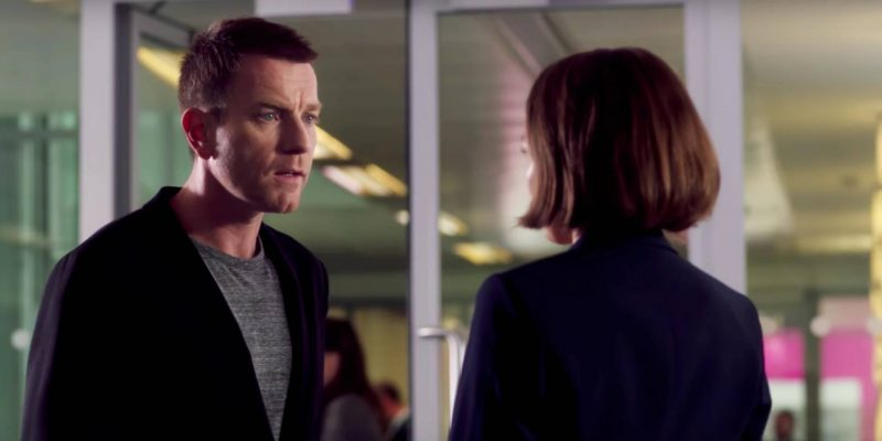 T2: Trainspotting still - Renton (Ewan McGregor) and Diane (Kelly MacDonald) 20 years later