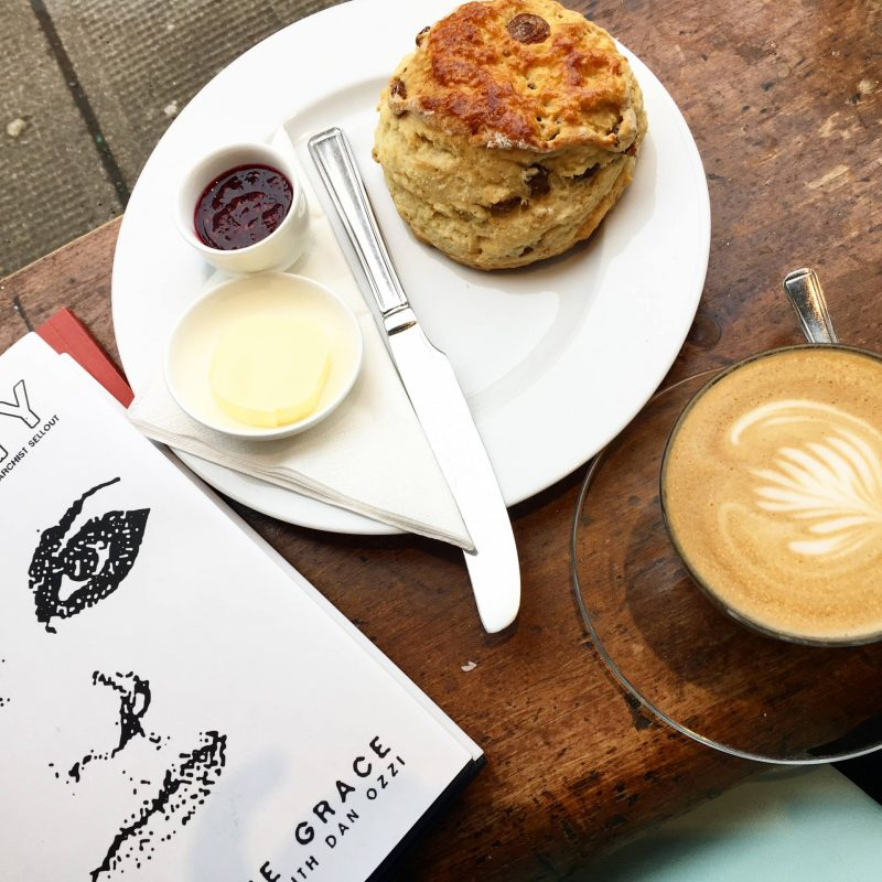 Coffee, cake and a book at Cottonrake Bakery, Glasgow