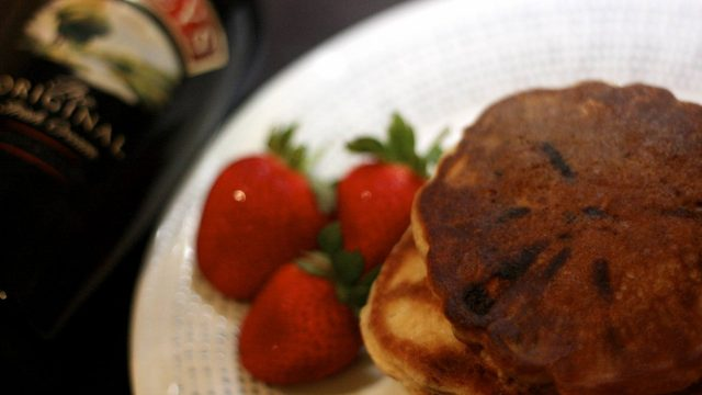 Boozy Baileys Chocolate Chip Pancakes - Last Year's Girl