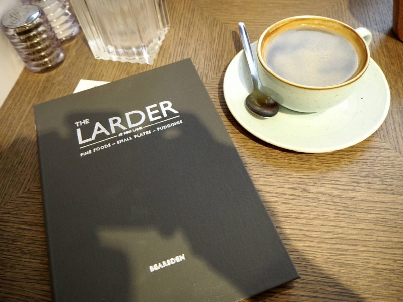 The Larder Bearsden review: Menu and coffee