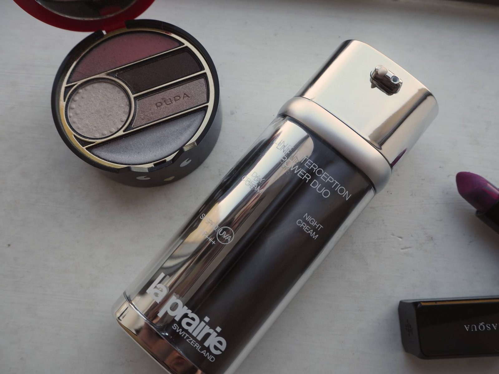 beauty review: la prairie line interception power duo;