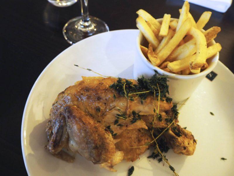 Browns Glasgow restaurant review - half roast chicken