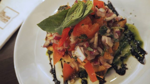 The Italian Kitchen - Glasgow Italian restaurant review - bruschetta