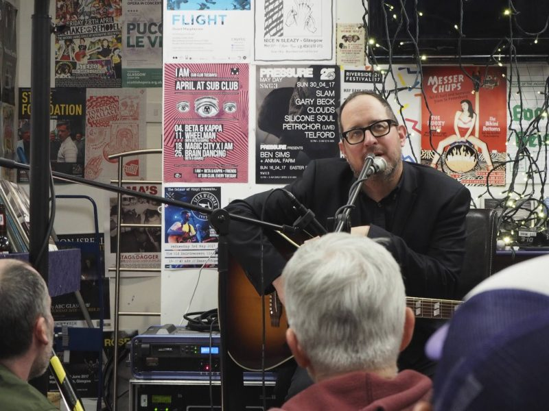 Culture Consumption, April 2017 - Craig Finn 'living room show' at LP Records, Glasgow