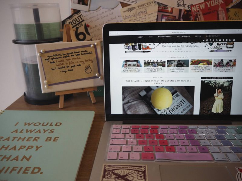 Freelance Mondays - laptop and Kate Spade Emily Bronte notebook from Amara